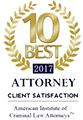 10 Best 2017 Attorney - Client Satisfaction - American Institute of Criminal Law Attorneys